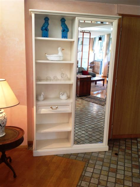 armadio appendiabiti per ingresso armadio per ingresso in legno laccato bianco patinato con