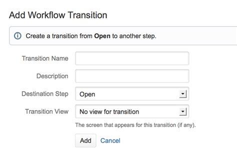 workflow transition テキストモードでの作業 アトラシアン製品ドキュメント