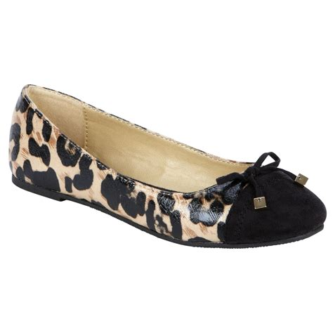soda shoes flats soda s adalia ballet flat leopard shoes