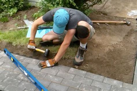 Cutting Patio Pavers Diy Paver Project Tips For Installing Cutting Pavers