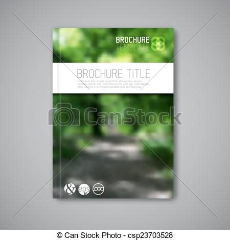 nature brochure template or flyer design stock vector illustration of modern vector abstract nature