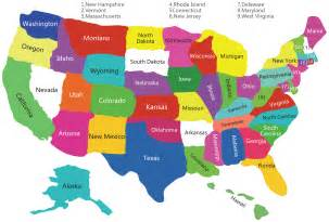 Maps Of The Usa States by Usa Colorful Map Mapsof Net
