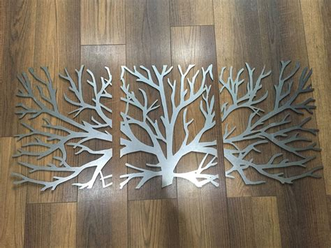 3 Wall Decor by Metal Wall Decor 3d Sculpture 3 Tree Brunch