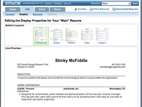 Amazing Resume Creator Software by Resume 201207
