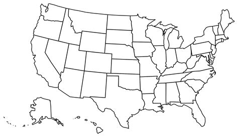 Usa Map Template clipart usa politique