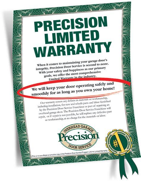 overhead door warranty garage door repair warranty by precision garage door of