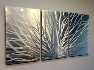 Contemporary Wall Decor by Radiance 3 Panel Metal Wall Abstract Contemporary