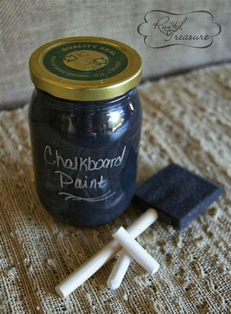 diy chalk paint ingredients diy chalkboard paint easy to make crafty