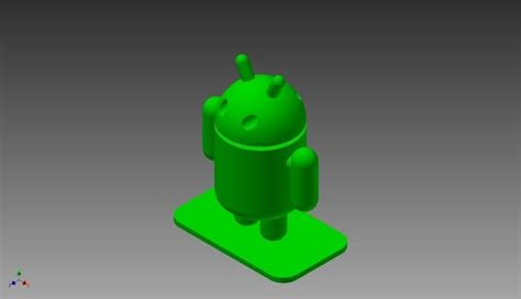 android model android logo free 3d model 3d printable stl