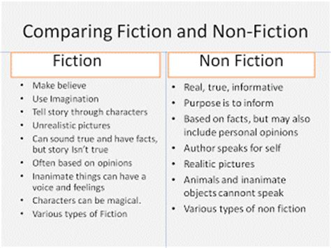Fiction Compare And Contrast Essay by Fiction Vs Nonfiction Essay