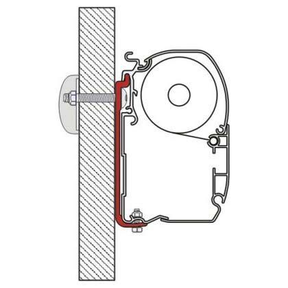 fiamma f45 awning mounting brackets caravansplus 98655 391 standard mounting bracket kit as120 suit fiamma f45