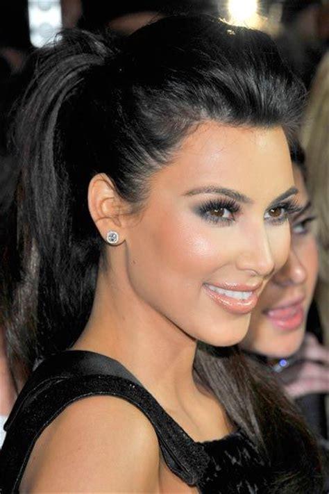 puffed up ponytail kim kardashian best hairstyles kimkardashian hairstyles