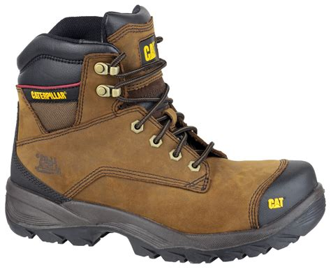 Cat Safety Brown caterpillar safety boots spiro brown safety boots