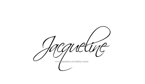 Tattoo Name Jacqueline | jacqueline name tattoo designs