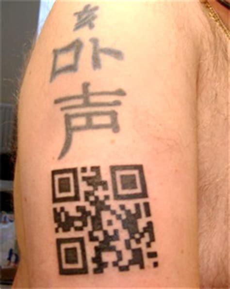 barcode tattoo that scans qr code tattoo guide by scott blake