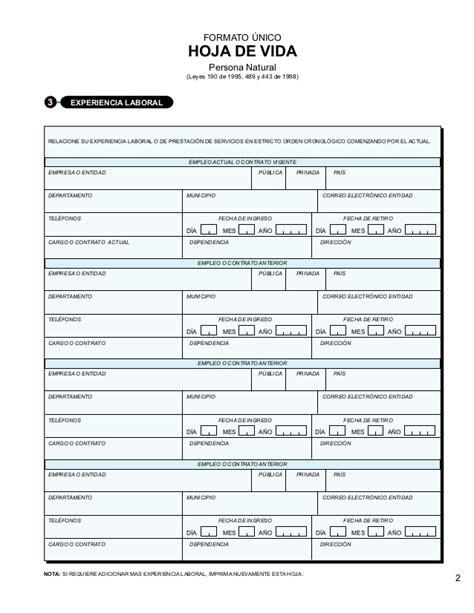 hoja de vida editable en pdf formato unico colombia hoja de vida editable en pdf formato unico colombia