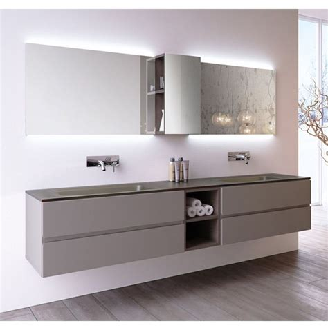 bagni doppio lavabo arredo bagno doppio lavabo in cristallo da 210 cm vari