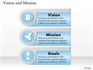 three different text boxes for vision and mission diagram 0214