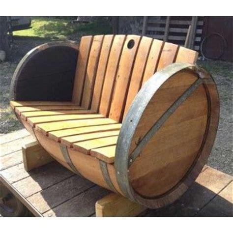 crate and barrell bench oak barrel garden bench barrels pinterest gardens