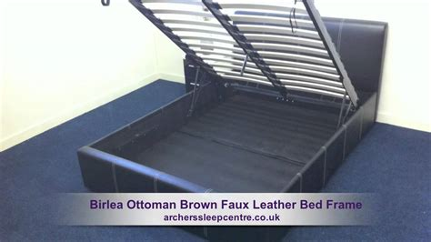 ottoman storage bed assembly instructions birlea ottoman brown faux leather bed frame youtube