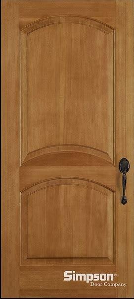 krosscore cherry two panel top rail arch interior door at stain grade doors interior doors and closets