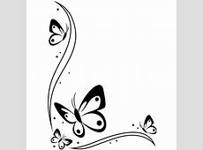Darice Embossing Folder BUTTERFLIES BORDER In The Corner ... Easy Drawings Of Hearts With Ribbons