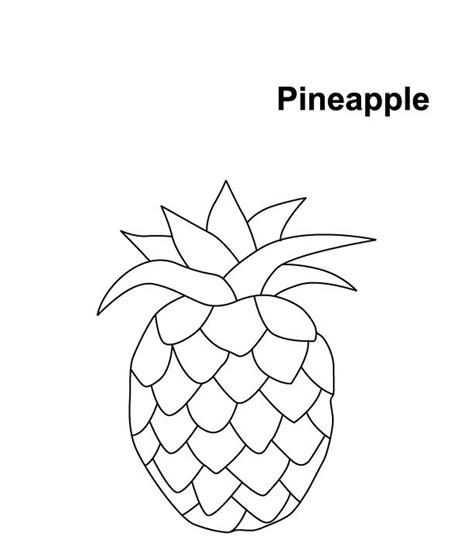 pineapple template printable pineapple coloring pages coloring me