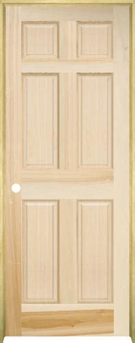 Mastercraft Poplar Raised 6 Panel Prehung Interior Door At Interior Doors At Menards