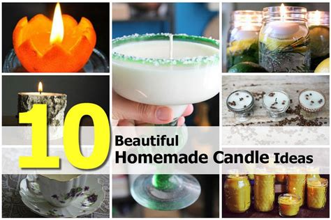 Handmade Candles Ideas - 10 beautiful candle ideas