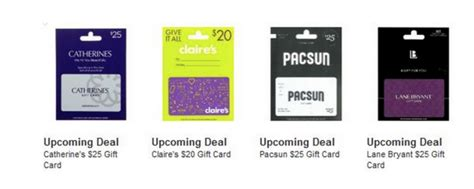 Sell Pacsun Gift Card - upcoming gift card deals catherine s claire s pacsun and lane bryant