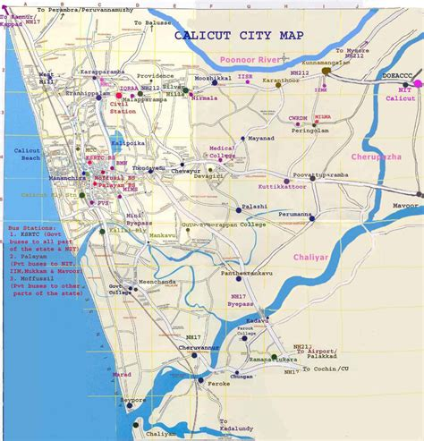 map of city of calicut city map calicut city mappery