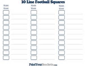 football pot template printable 10 line football squares pool