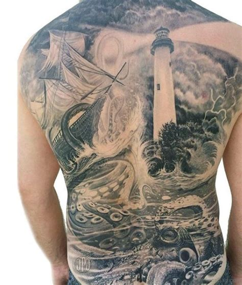 Tattoo Back Ship | 51 classic ship tattoos on back