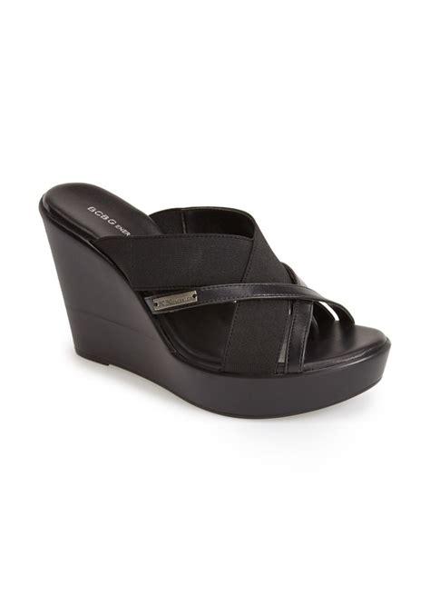 bcbg wedge sandals bcbg bcbgeneration quest wedge sandal shoes