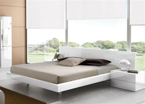 White Lacquer Bedroom Furniture caprice contemporary bed contemporary beds modern beds