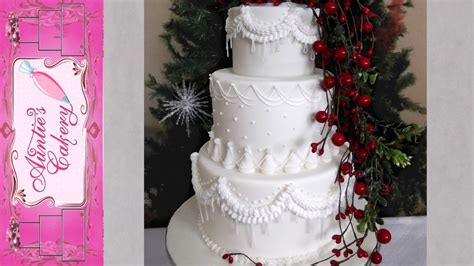 winter wedding cake youtube