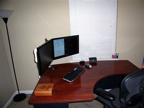 Printer Desk Stand by Do It Yourself Dual Lcd Monitor Stand Patshead Com Blog