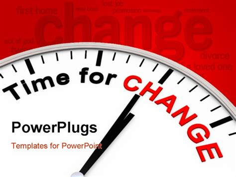 changing powerpoint template powerpoint template clock with words time for change