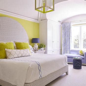 yellow and purple bedroom ideas gray canopy bed with citron green headboard contemporary