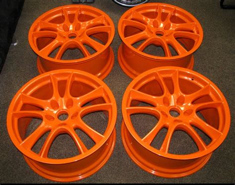 powder coated orange porsche wheels http www powderkegcoatings powder coating paint