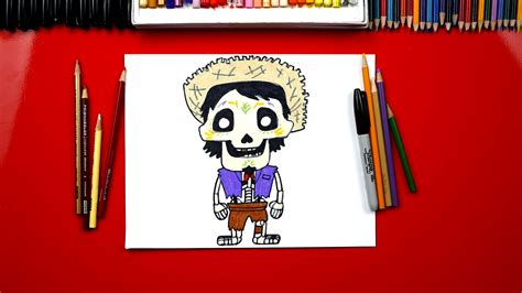 draw hector  disney coco art  kids hub