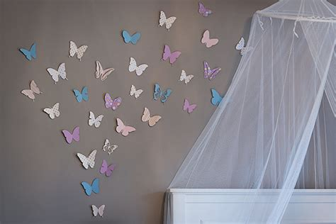 How To Make Paper Butterflies For Wall - rooms butterfly accent wall circus berry