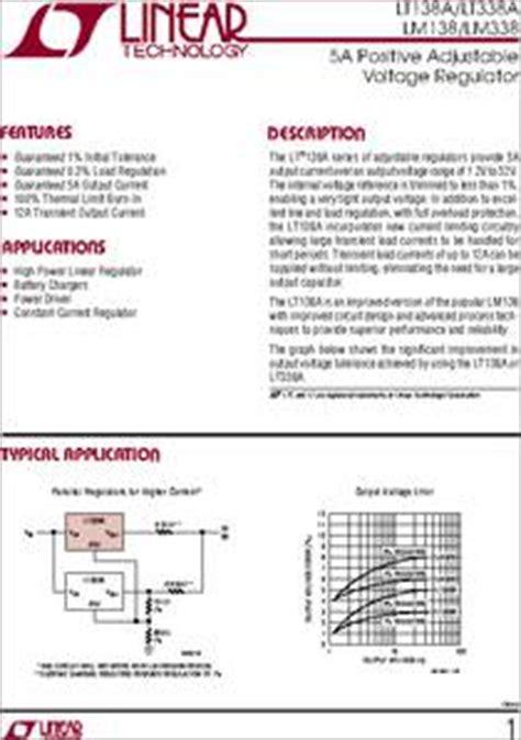 transistor lm338k datasheet lm338 datasheet 5a positive adjustable voltage regulator