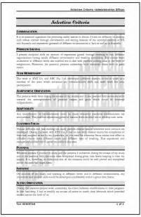 criteria examples computer skills selection criteria