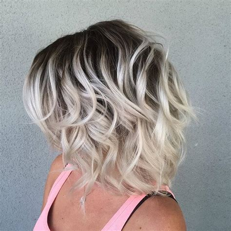 ombre hair over 50 50 platinum blonde hairstyle ideas for a glamorous 2018