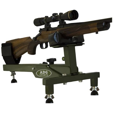 bench rifle adg sports secure shot bench rest 164464 shooting