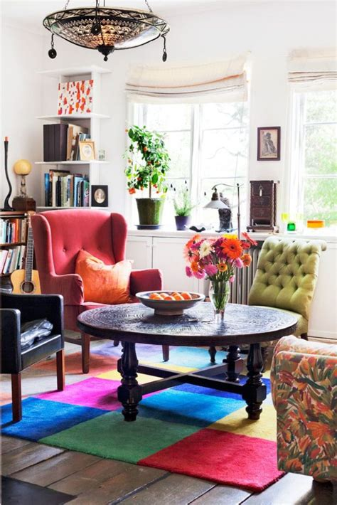 25 Awesome Bohemian Living Room Design Ideas Colorful Living Room Chairs