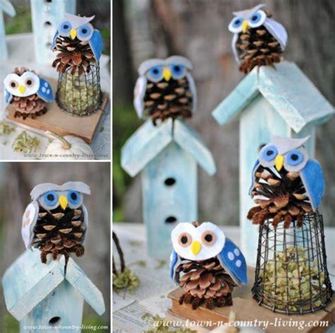 Tippytoe Crafts Pine Cone Snowy Owls - snowy owl pinecone craft an easy diy