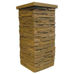 Column Wrap Kits Shop Nextstone 4 Pack 16 In X 36 In Western Taupe Drystack
