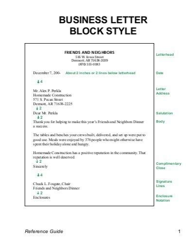 business letter sle block form business letter modified block format sle 28 images